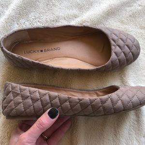 LICKY BRAND Quilted Ballet Flats
